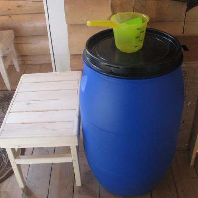 Приобретение необходимых бытовых и хозяйственных приборов (бочка для воды)